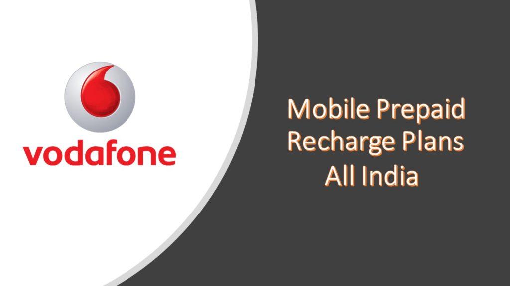 Vodafone Recharge Plans